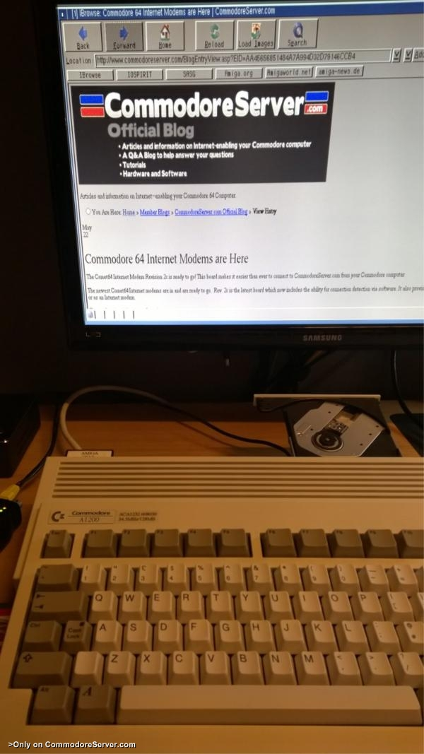 Commodore Server on A1200